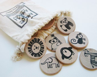 Make a Match - Zoo Edition - A Montessori and Waldorf Inspired Matching and Memory Game
