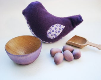 Chick-A-Dee Playset - Purple Edition - A Montessori and Waldorf Inspired Counting and Learning Toy