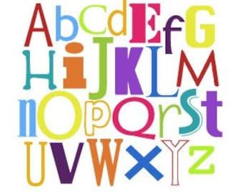 Nursery Wall Art - Modern Alphabet - Montessori and Waldorf Inspired Artwork