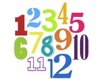 Nursery Wall Art - Modern Numbers - Montessori and Waldorf Inspired Artwork
