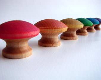Counting Mushrooms - A Montessori and Waldorf Inspired Wooden Counting and Learning Toy
