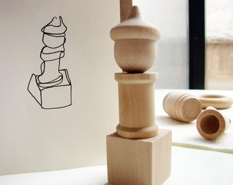 Little Details - A Montessori and Waldorf Inspired Wooden Art Toy
