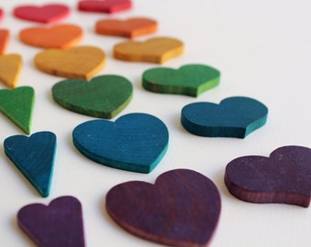 Counting Hearts - A Montessori and Waldorf Inspired Wooden Counting and Learning Toy