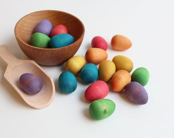 Rainbow Nest - Counting Eggs - A Rainbow Counting Set Inspired by Montessori and Waldorf Philosophies
