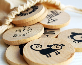 Make a Match Toddler - Zoo Edition - Memory Game Inspired by Montessori and Waldorf