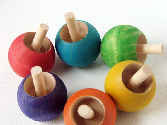 Gumdrop Top - A Montessori and Waldorf Inspired Wooden Spinning Toy