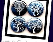 Winter Blues decorative button magnets or pinbacks, magnabilities compatible, jewelry, pendant, necklace, ring