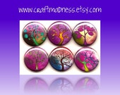 Visions of Violet decorative button magnets or pinbacks