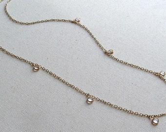 CELESTE- vintage Swarovski charm necklace