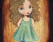 Fairy Tale Art, Children's Art, Girls Room Art, Nursery Art Girl, Girl Art Print, Fairytale Art, Poster, Cute - Golden Locks 8x10 Print