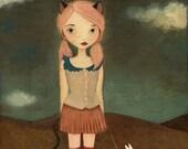 Cheshire Cat Print 8x10 - Alice In Wonderland Art Print, Girl Art Print, Poster, Children's Art, Girls Room Art, Cute, Whimsical Girl Art