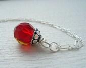 Rosebud- sterling silver necklace