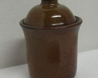 Chestnut Porcelain Lidded Jar