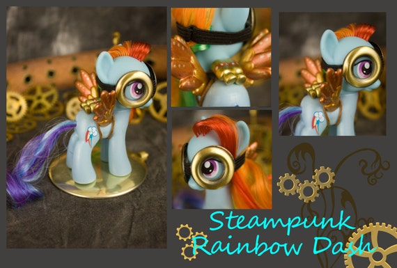 My Little Pony Friendship is Magic Rainbow Dash custom Steampunk