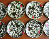 Chintz Papier Mache Coasters by Highmount- Boxed Set of 8