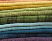 Hand Dyed One Hundered Percent Felted New Wool in a Great Sampler Bundle Number 299