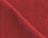 Hand Dyed Felted Wool Fabric in a Fat Quarter Yard of Crimson Red Houndstooth