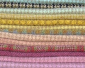Hand Dyed and Felted Wool Fabric Perfect for Rug Hooking and Applique Number 2687D