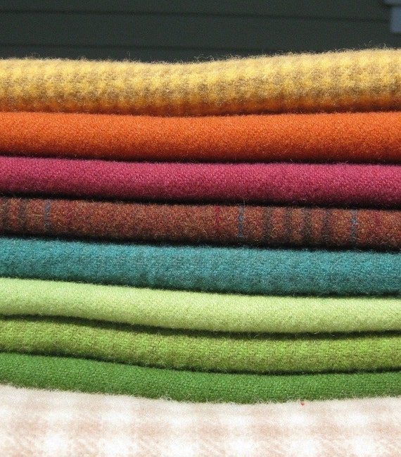 Hand Dyed and Felted Wool Fabric Perfect for Rug Hooking and Applique Number 2619C