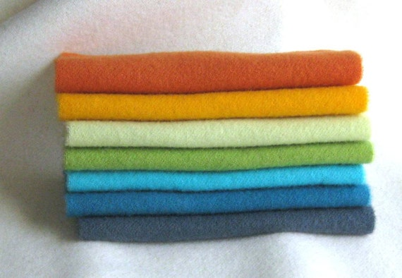 Hand Dyed and Felted Wool Fabric Number 3838