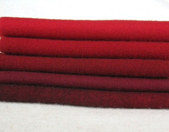 Hand Dyed and Felted Wool Fabric Perfect for Rug Hooking, Applique, Sewing, Quilting, and Many Craft Projects 2455