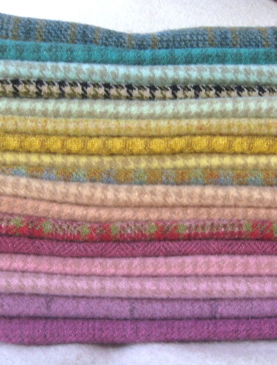 Hand Dyed and Felted Wool Fabric Perfect for Rug Hooking and Applique Number 2653