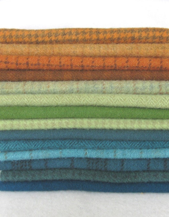Hand Dyed Felted Wool in a Beautiful Collection of Colors a Perfect Rug Hooking Wool 2701E
