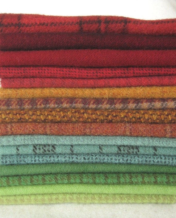 Hand Dyed Felted Wool in a Beautiful Collection of Colors a Perfect Rug Hooking Wool 2761D