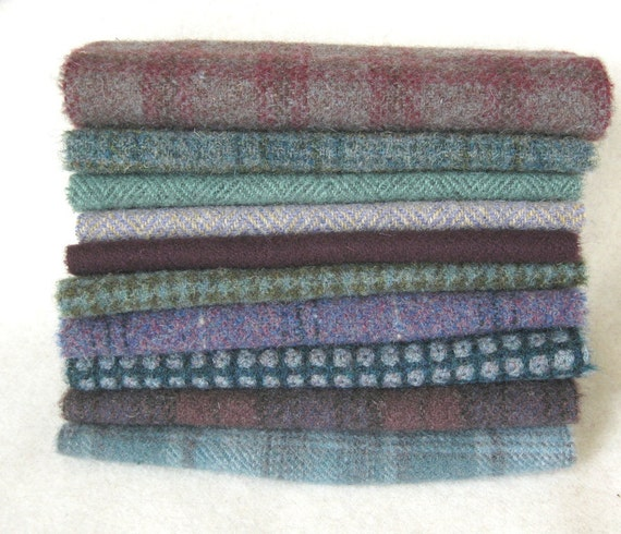15 Inch by 6 Inch Hand Dyed and Felted Wool Fabric Perfect for Rug Hooking and Applique Number 2861