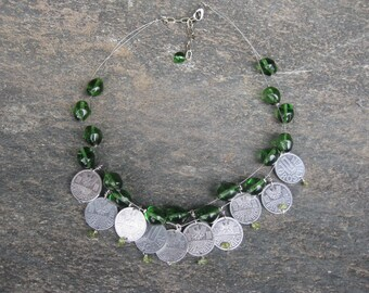 Austrian coins necklace