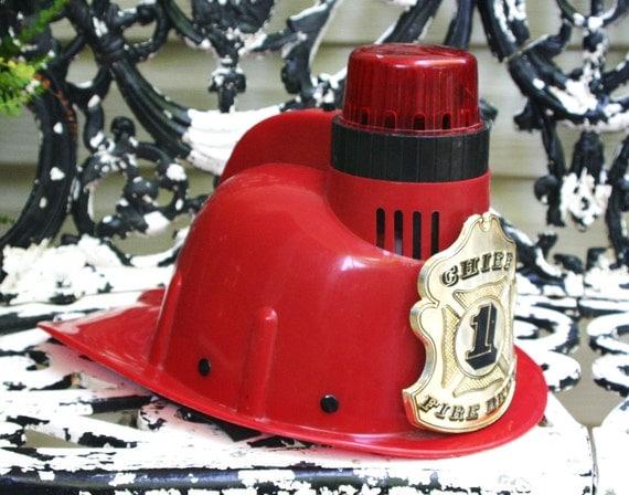 1970s Radio Shack Fire Chief Child S Helmet