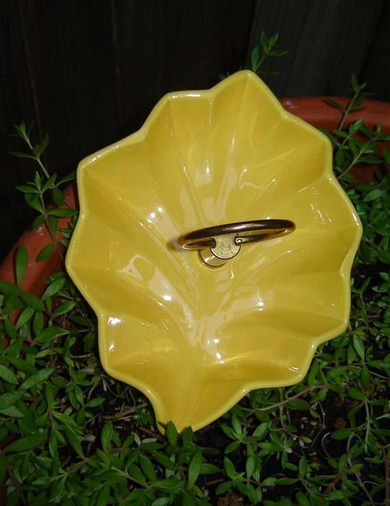 Yellow Miramar Pottery Candy Dish