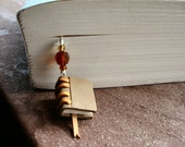 Tan and Gold Book Bookmark