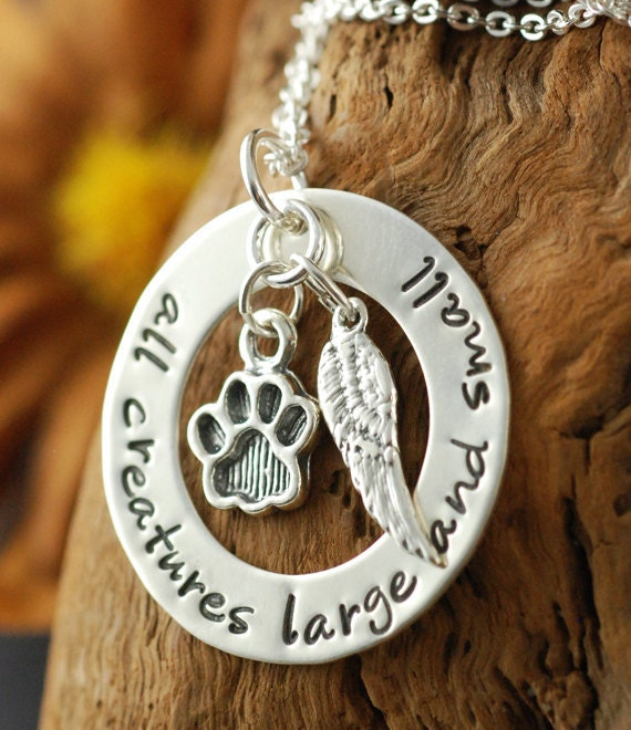Dog Paw Necklace | Personalized Sterling Silver Necklace, Animal Lover, Dog Paw Charm