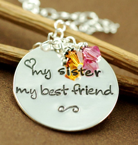 Items Similar To My Sister My Best Friend, Hand Stamped -4901