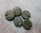 Lilypads - polymer clay beads