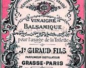 Vintage French Parfum Advertisement Digital Collage Sheet Image Transfer Burlap Feed Sacks Pillows Tea Towels greeting cards UPrint 300jpg