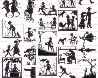 Silhoutte Sepia Decals for Image Transfer Onto Glass Fused Glass Decal Tutorial 30Silhouttes
