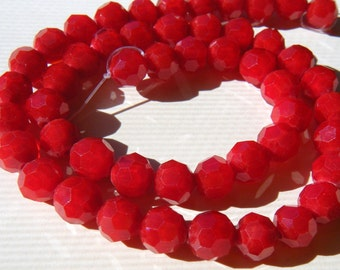 100 Red Chinese Crystal Round Beads 7mm cc-redrnd-7