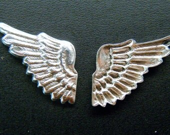 Wing Stamping Antiqued Silver 2 RIGHT Wings