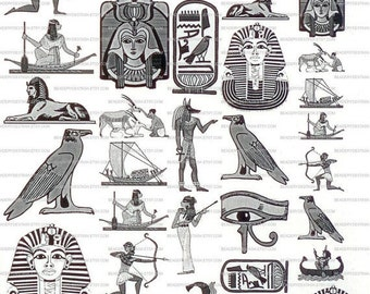 Sepia Decals for Glass Fusing 37 Egypt Theme Fusible Glass Decals 37Egypt