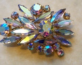 Beautiful Vintage Iridescent Brooch