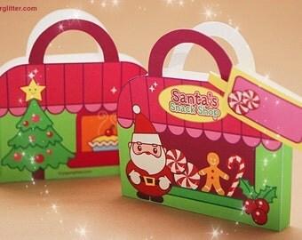 0015 Santa's Snack Shop Stationery-Printable PDF