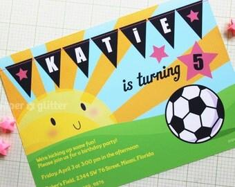 Soccer Invitation Soccer Birthday Invitation