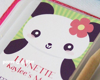 Calling Mommy Card Printables personalized with your details by Paper Glitter - Japanese Kawaii Panda