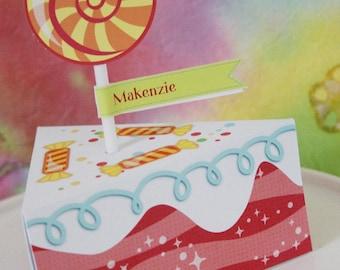 Sweet Shoppe Candy Paper Cake favor baking party box printables - Editable Text Printable PDF 1057
