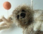 Sloth Baby Mobile, Felted Wooly Sloths, Custom made to order