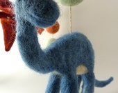 Baby Mobile, Felted Wool Dinosaurs, Custom, made to order