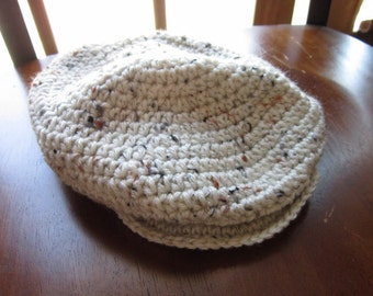 Scally/Drivers/Golf Newsboy Cap Crochet Flat hat Photo Prop