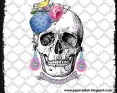 Natalia Nada 8x8 Digital Art Print Sugar Skull